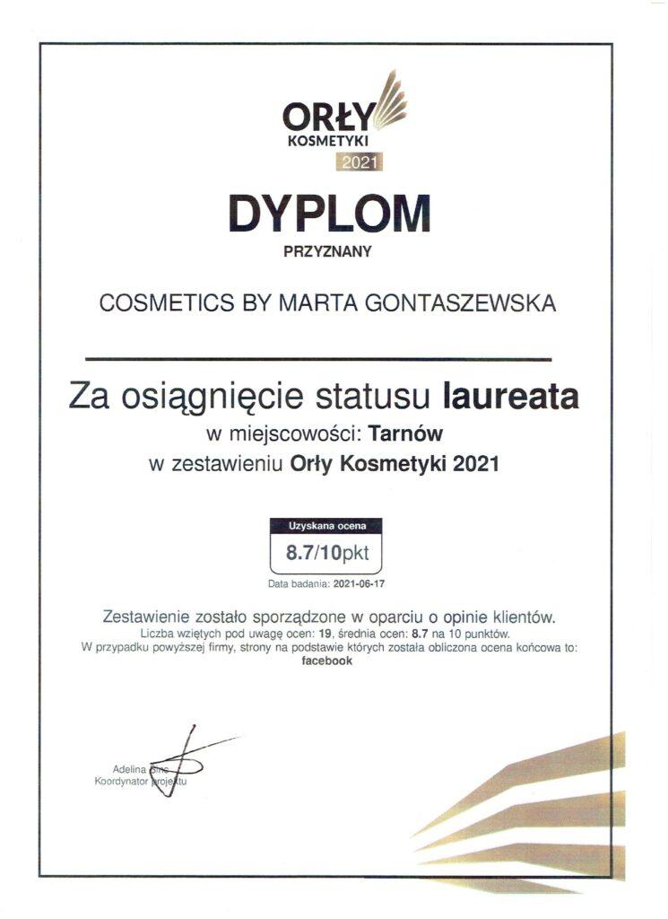 orły kosmetyki dyplom 2021